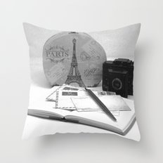 Love Letters From Paris Throw Pillow