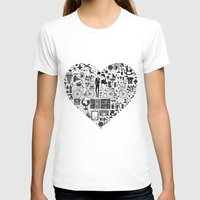 LIKES PATTERNS Womens Fitted Tee White SMALL