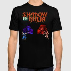 Shadow of the Ninja- Blue Shadow Mens Fitted Tee Black SMALL