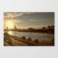 Charlie The River Canvas Print