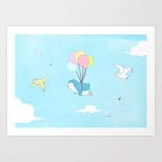 Penguins Can Fly! Art Print