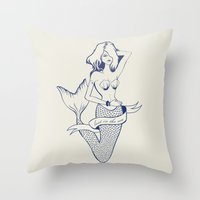 Lost In The Sea Throw Pillow