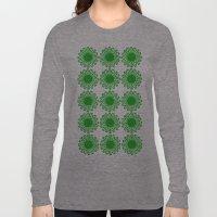Vintage Flower_Green Long Sleeve T-shirt
