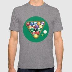 Billiard Balls Rack - Boules de billard Mens Fitted Tee Tri-Grey SMALL