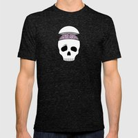 Brainy Skull Mens Fitted Tee Tri-Black SMALL