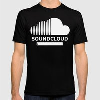 Share Your Cloud With The World Mens Fitted Tee Black SMALL