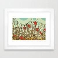Pop Pop Poppies Abstract… Framed Art Print