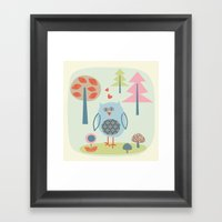 Bird in the Woods Framed Art Print