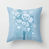 Don't Burst the Bubble Throw Pillow