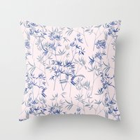exotic blue Throw Pillow
