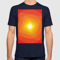 Gradient Sun Mens Fitted Tee Navy SMALL