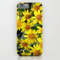 iPhone Cases featuring Yellow by Climbing Mountains Art