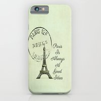 White Paris is Always a Good Idea Audrey Hepburn  iPhone 6 Slim Case