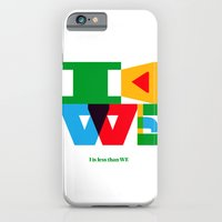iPhone & iPod Case featuring I is less than WE by canefantasma