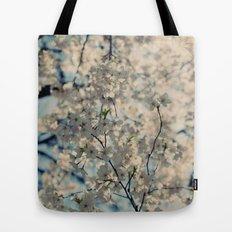 White Spring Tote Bag