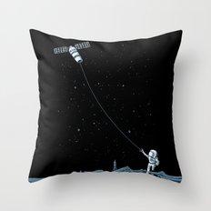 Satellite Kite Throw Pillow