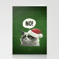 Grumpy Xmas Stationery Cards