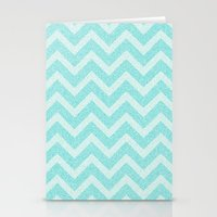 Chevron Aqua Dreams Stationery Cards