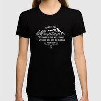 NOT SHAKEN Womens Fitted Tee Black SMALL