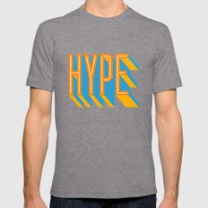 HYPE Mens Fitted Tee Tri-Grey SMALL