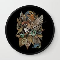 Clockwork Sparrow Wall Clock