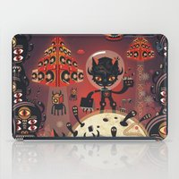 DJ Hammerhand cat - party at ogm garden iPad Case