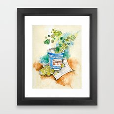 Coffee and Carats Framed Art Print