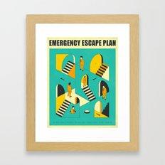 EMERGENCY ESCAPE PLAN 1 Framed Art Print