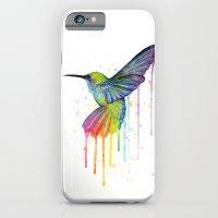 Hummingbird Rainbow Watercolor iPhone 6 Slim Case