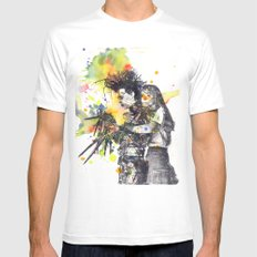 Edward Scissor Hands Mens Fitted Tee White SMALL