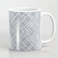 Map Outline 45 Grey Repeat Mug