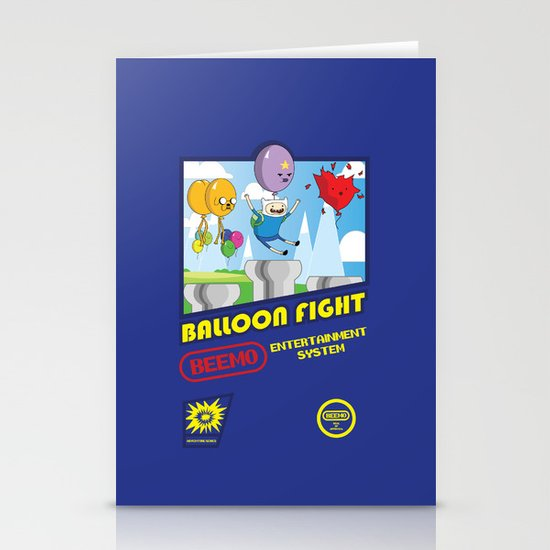 Adventure Time Balloon Fight Stationery Card