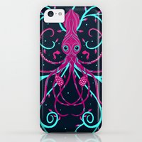 iPhone Cases featuring Midnight Squid by LittleKnids
