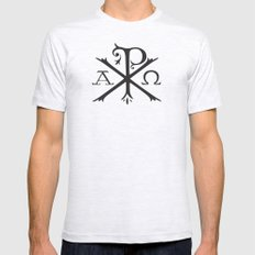Chi Rho Mens Fitted Tee Ash Grey SMALL