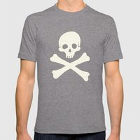 Skull & Crossbones Mens Fitted Tee Tri-Grey SMALL