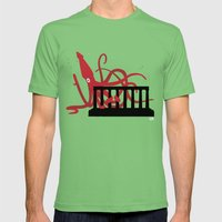 Giant Squid Attacks Edin… Mens Fitted Tee Grass SMALL