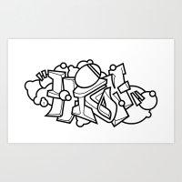 Graffiti - HIGH Art Print