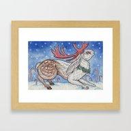 Christmas Jakelope Framed Art Print
