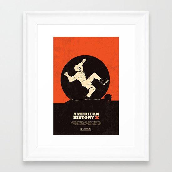 american history x. Framed Art Print