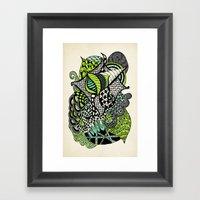 The Flying Snail Framed Art Print