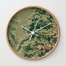 Winter Garden Wall Clock