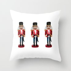 Watercolor Nutcracker trio Throw Pillow