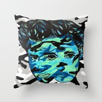 Marlon Brando: Double Vi… Throw Pillow