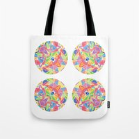 Kaleidoscopic Circles Tote Bag