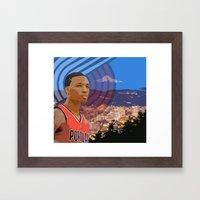 Portland TrailBlazers Damian Lillard   Framed Art Print