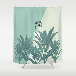 Shower Curtain - The Blue Nature - The Red Wolf