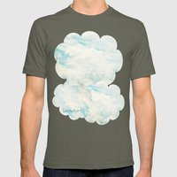 Somewhere | Beautiful Fluffy Clouds  Mens Fitted Tee Lieutenant SMALL