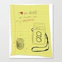 yashica love Canvas Print