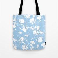 Hydranga pattern  - blue and white Tote Bag