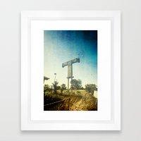 Texas T Framed Art Print